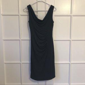White House Black Market Draped-Neck Sheath Dress